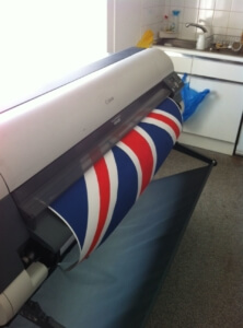 Printing off a Union Jack for the Ealing gallery.