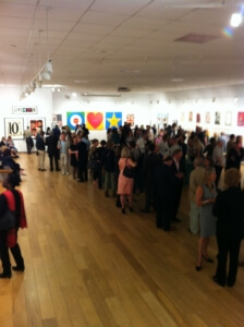 Sir Peter Blake private viewing.