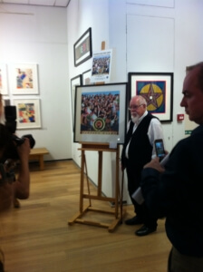 Sir Peter Blake with his newest print.