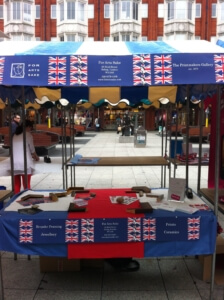 Our jubilee stall in Ealing Broadway shopping centre.
