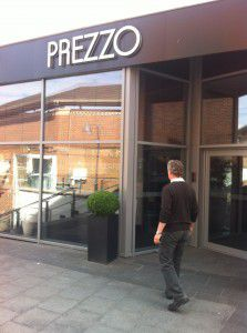 Patiently waiting for Prezzo to open.