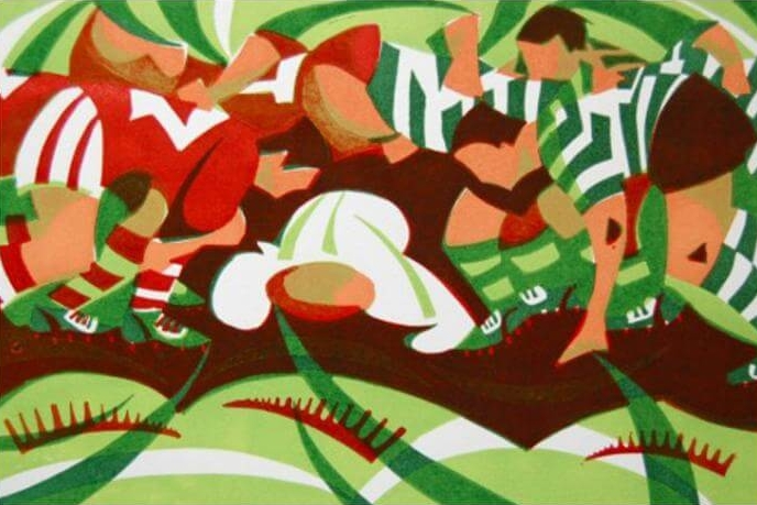 Rugby Scrum - Paul Cleden