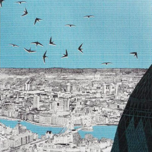London Lurking Behind the Gherkin - Clare Halifax