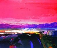 Kinlochbervie Red Sky - Donald Hamilton Fraser
