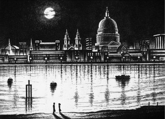 River Thames Moonlight Walk - John Duffin