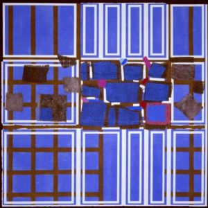 Blue Brown Interweave - Sandra Blow