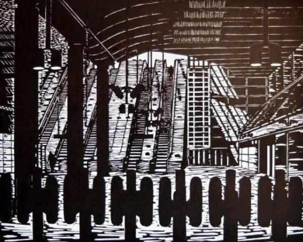 Ticket Barrier Canary Wharf - Susan Short