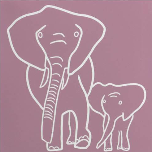 Elephant mother and baby - Jane Bristowe