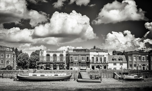 Boats And Houses - photograph by Alex Arnaoudov
