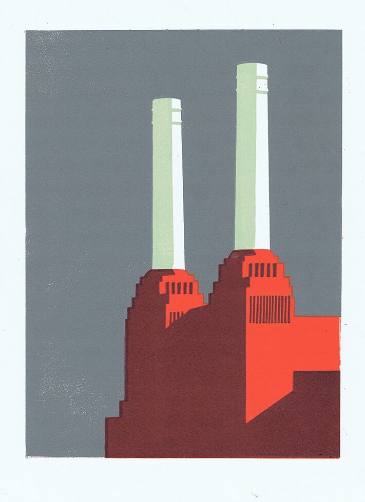 Battersea Slate Ii By Paul Catherall Printmaker