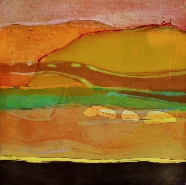 Louise Davies, The Sands at Daybreak, 33 x 33 cms, Unframed -ú250
