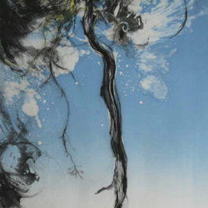 Tall Pine, Summer Breeze in Blue - Clare Grossman