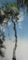 Tall Pine, Summer Breeze in Blue - Clare Grossman