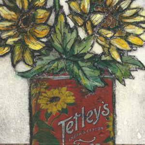 Tin of sunflowers - Vicky Oldfield