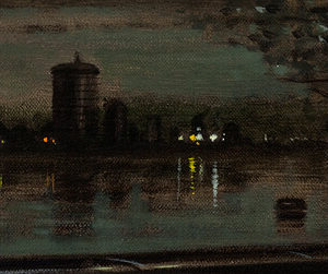 River Thames - Battersea Night - John Duffin