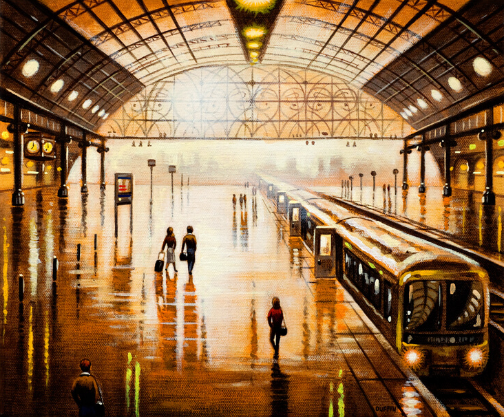Station Reflections - Leaving Town - John Duffin
