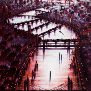 Thames Bridges East Oil - John Duffin