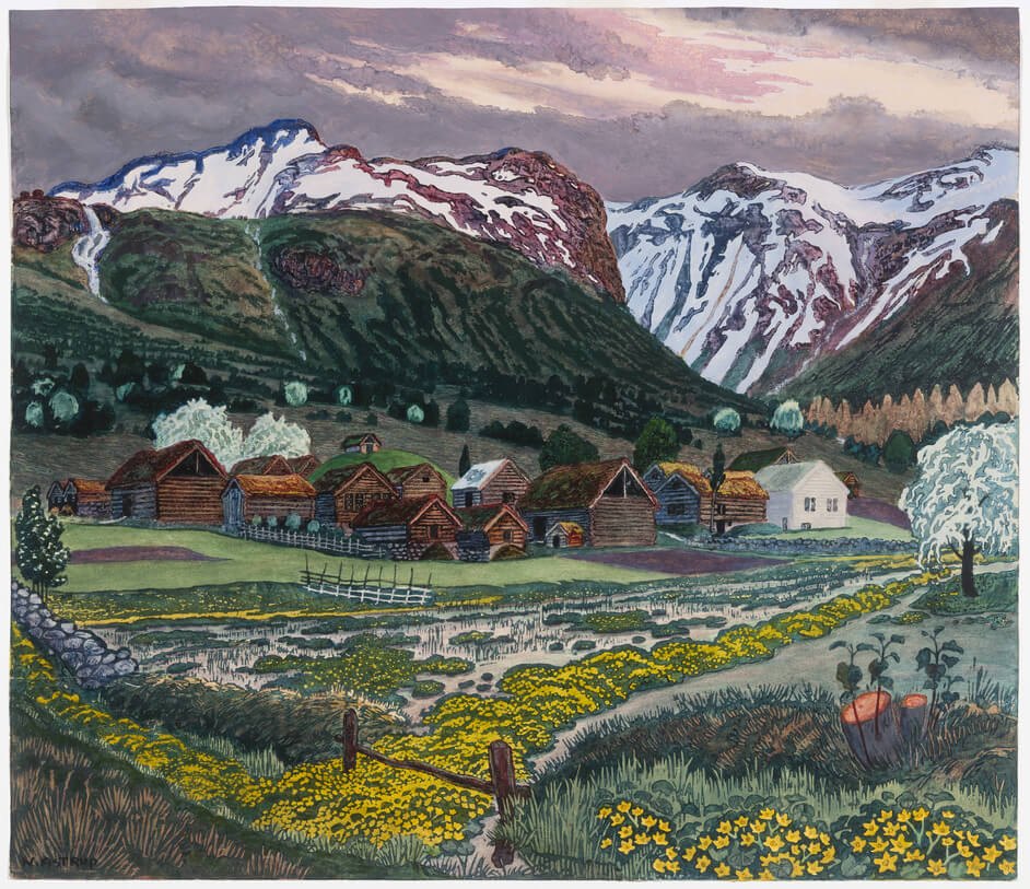 Nikolai Astrup Painting Norway