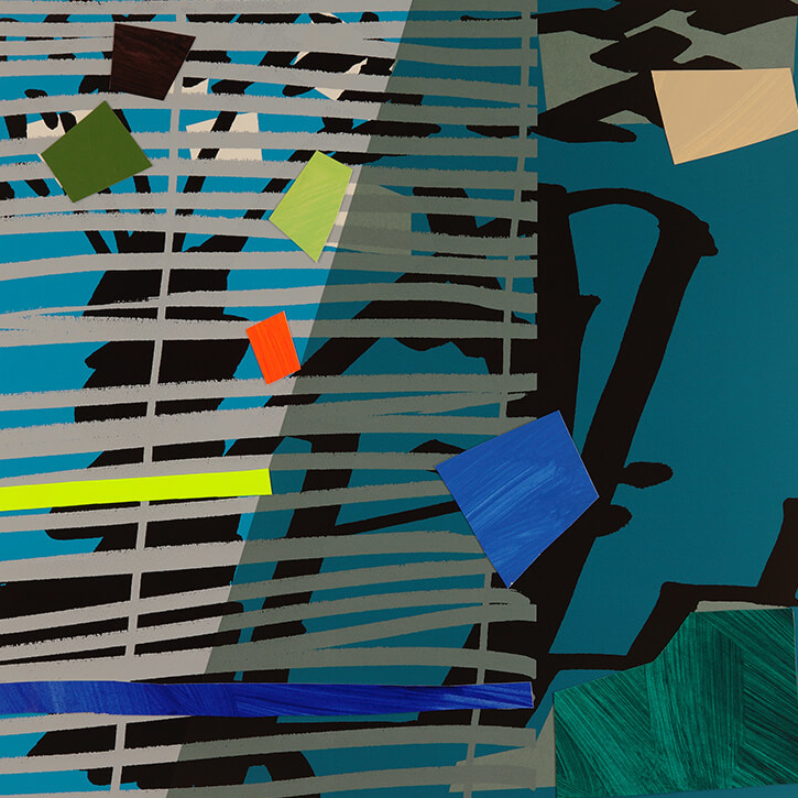 Blue Grey Blind - Bruce McLean