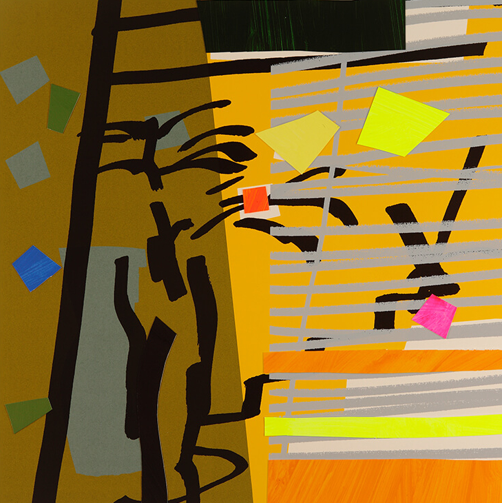 Tree Fern Shadow Yellow - Bruce McLean