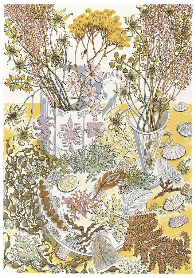 Angie Lewin, Nature Study Late Summer, Screenprint