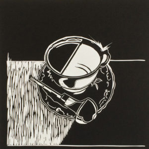 Tea &Tools I Black Linocutter - Molly Okell