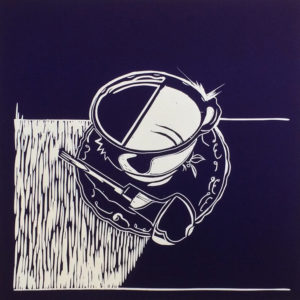 Tea &Tools I Blue Linocutter - Molly Okell