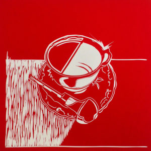 Tea &Tools I Red Linocutter - Molly Okell