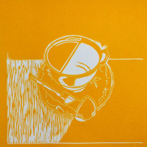 Tea &Tools I Yellow Linocutter - Molly Okell