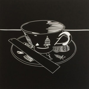 Tea & Tools III Black Ruler - Molly Okell