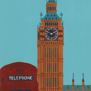 Big Ben with Red Telephone Box - Jennie Ing