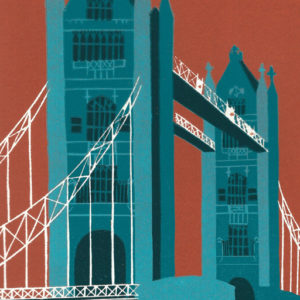 Tower Bridge (teal) - Jennie Ing