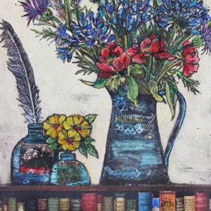 Flowers and books - Vicky Oldfield