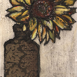 Sunflower in a bottle - Vicky Oldfield