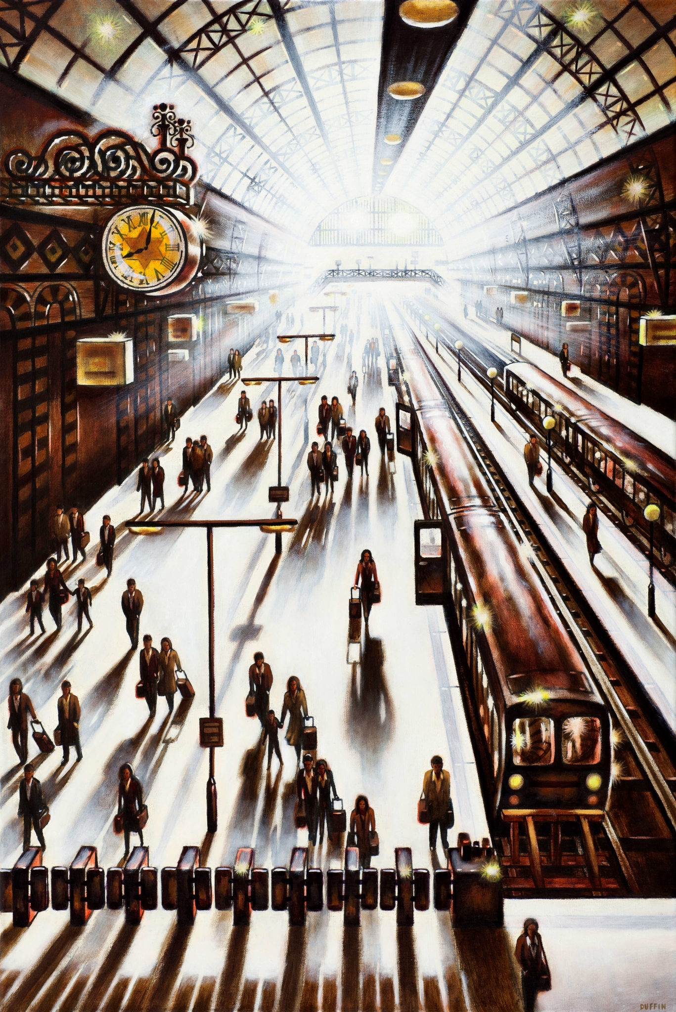 Another Arrival - King's Cross St Pancras Station - John Duffin