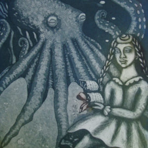 Girl Reading Poetry to an Octopus - Linda Landers