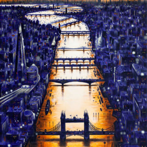 Thames Bridges - Dusk - John Duffin