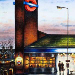 Tube Station Night (South Ealing) - John Duffin