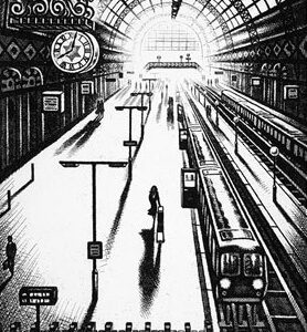 Arrival Alone - King's Cross St Pancras Station - John Duffin