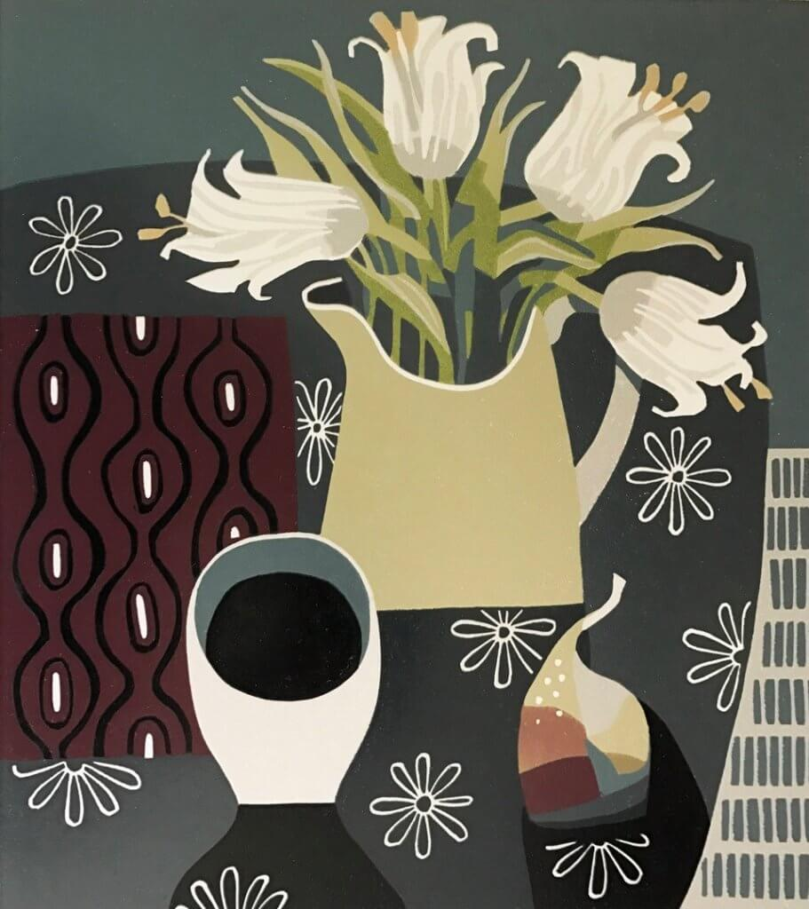 Pear and Lillies - Jane Walker