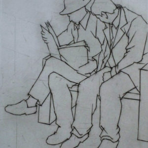Two People Reading - Ali Yanya