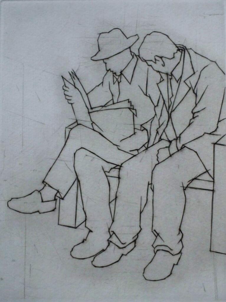 Two People Reading - Ali Yanya