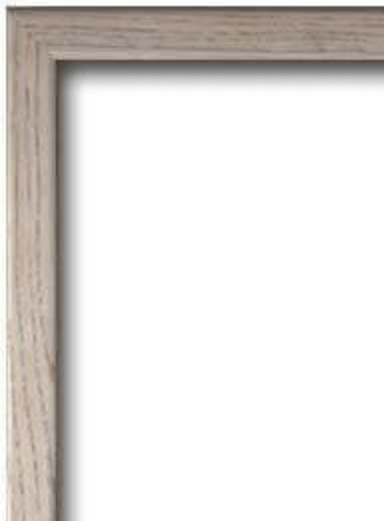 White Wash Coloured Frame
