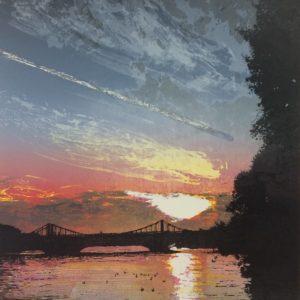 Chelsea Bridge Sunset - Steve Edwards