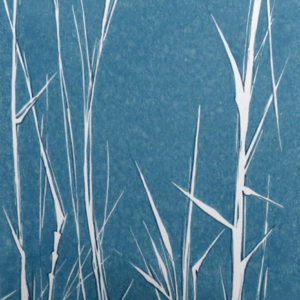 Bamboo Stalks in Stone Blue - Sarah Knight