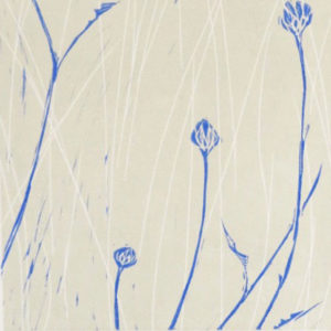 Buds & Grasses in Old White & Pitch Blue - Sarah Knight