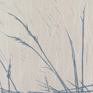 Suffolk Reeds in Old White & Stone Blue - Sarah Knight