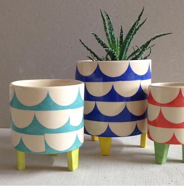 Ken Eardley pottery pots and planters