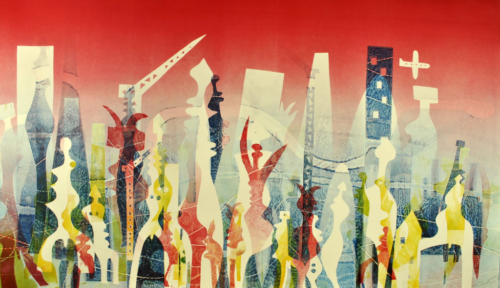 London in its diversity by printmaker Trevor Price