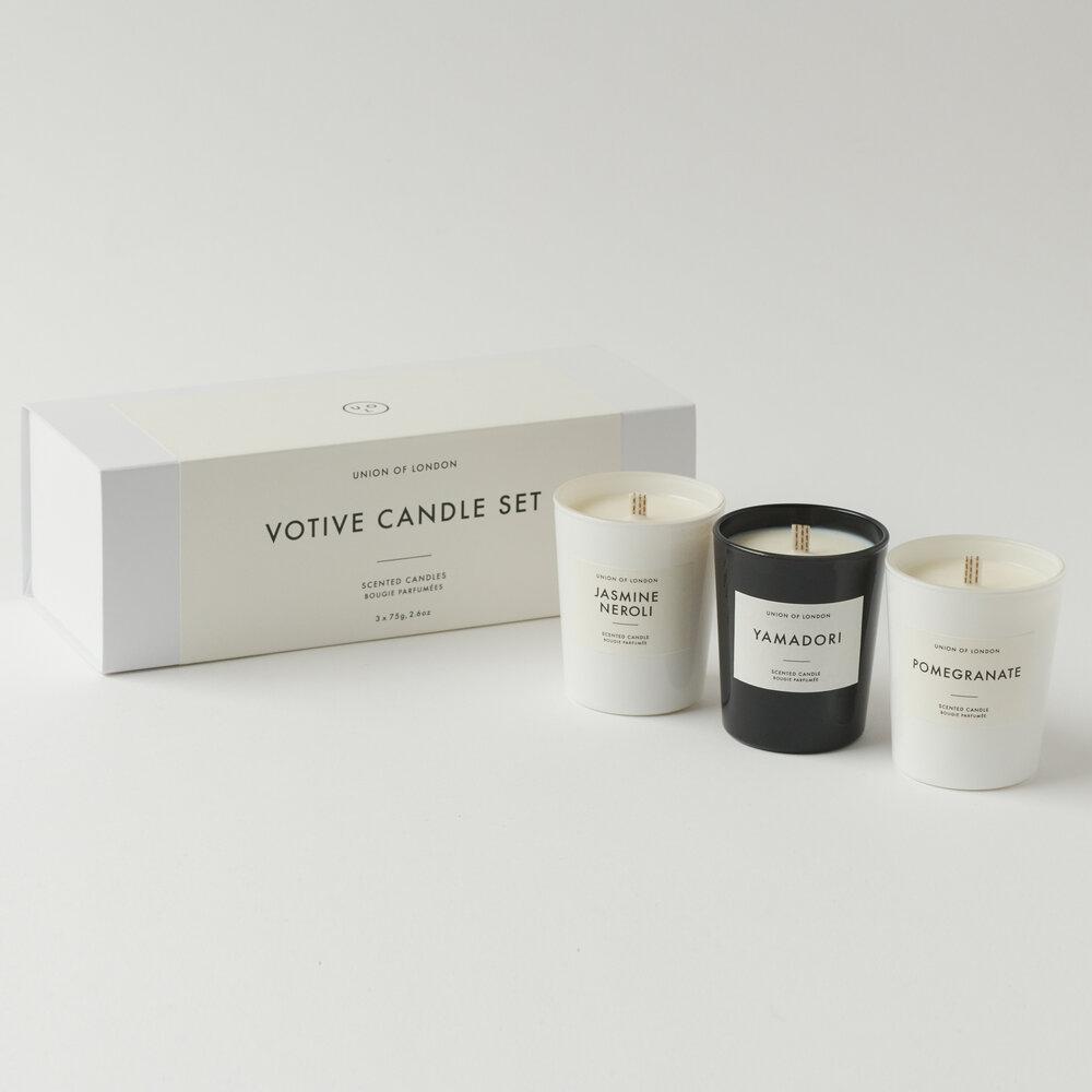Votive Candle Set Of 3 For Arts Sake